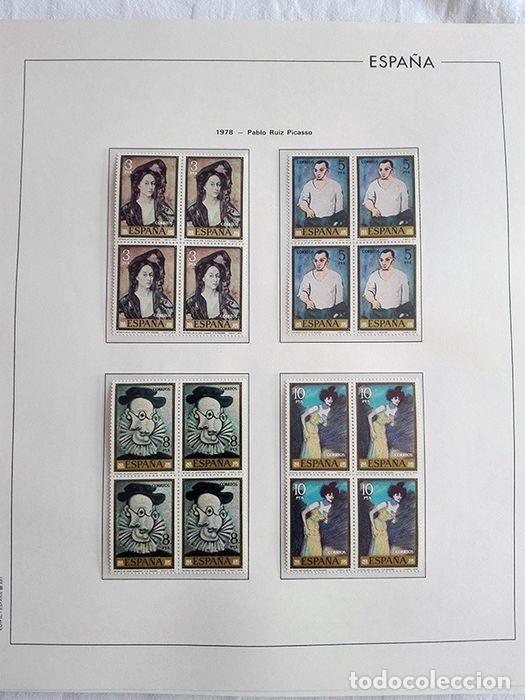 Sellos: España sellos en bloque de 4 de los años 1975 1976 1977 1978 con Hojas Edifil en negro HEBS70 - Foto 5 - 205826555