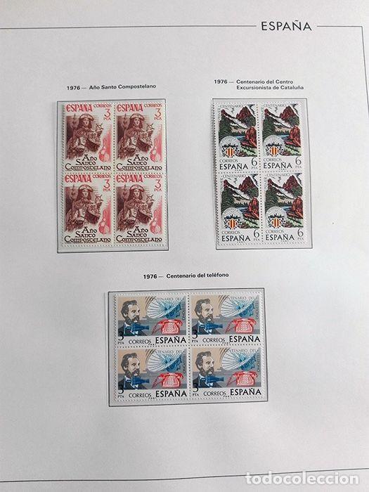 Sellos: España sellos en bloque de 4 de los años 1975 1976 1977 1978 con Hojas Edifil en negro HEBS70 - Foto 6 - 205826555