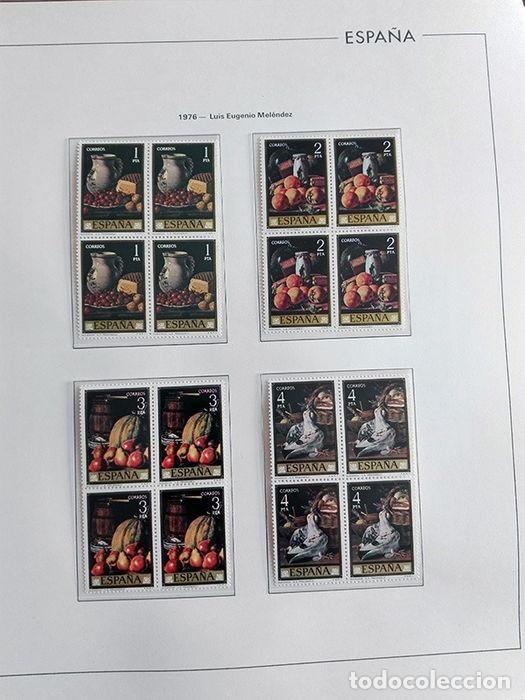 Sellos: España sellos en bloque de 4 de los años 1975 1976 1977 1978 con Hojas Edifil en negro HEBS70 - Foto 7 - 205826555