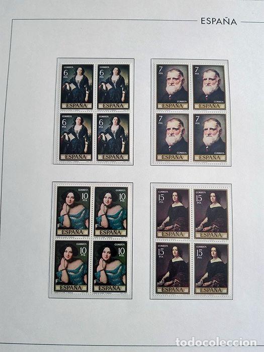 Sellos: España sellos en bloque de 4 de los años 1975 1976 1977 1978 con Hojas Edifil en negro HEBS70 - Foto 8 - 205826555