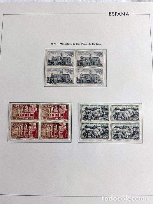 Sellos: España sellos en bloque de 4 de los años 1975 1976 1977 1978 con Hojas Edifil en negro HEBS70 - Foto 9 - 205826555