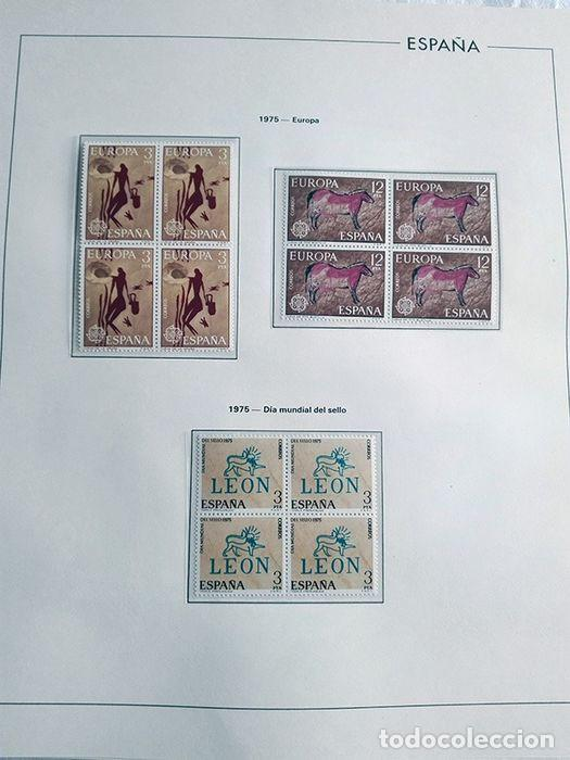 Sellos: España sellos en bloque de 4 de los años 1975 1976 1977 1978 con Hojas Edifil en negro HEBS70 - Foto 10 - 205826555