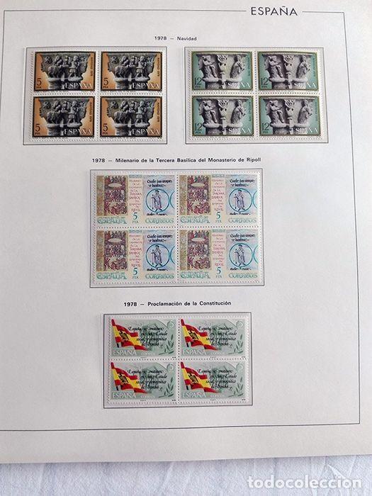 Sellos: España sellos en bloque de 4 de los años 1975 1976 1977 1978 con Hojas Edifil en negro HEBS70 - Foto 11 - 205826555
