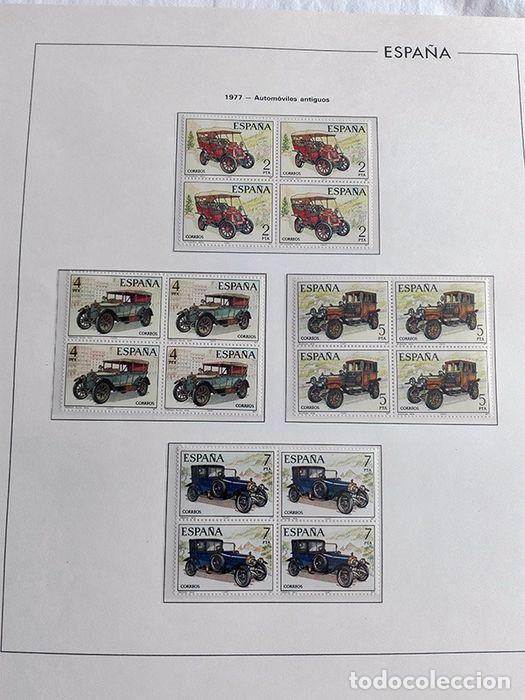 Sellos: España sellos en bloque de 4 de los años 1975 1976 1977 1978 con Hojas Edifil en negro HEBS70 - Foto 12 - 205826555