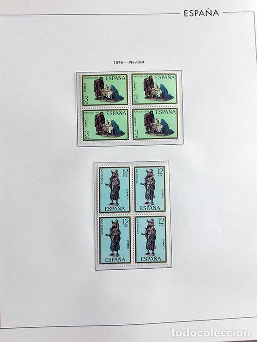 Sellos: España sellos en bloque de 4 de los años 1975 1976 1977 1978 con Hojas Edifil en negro HEBS70 - Foto 13 - 205826555