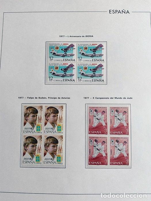 Sellos: España sellos en bloque de 4 de los años 1975 1976 1977 1978 con Hojas Edifil en negro HEBS70 - Foto 14 - 205826555