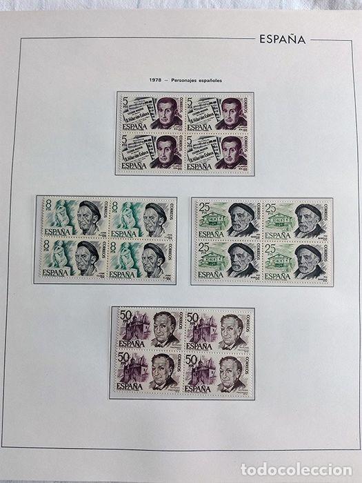 Sellos: España sellos en bloque de 4 de los años 1975 1976 1977 1978 con Hojas Edifil en negro HEBS70 - Foto 15 - 205826555