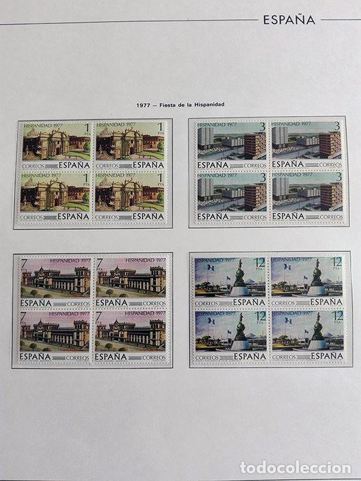 Sellos: España sellos en bloque de 4 de los años 1975 1976 1977 1978 con Hojas Edifil en negro HEBS70 - Foto 16 - 205826555