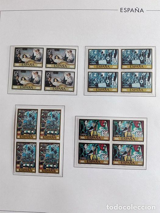 Sellos: España sellos en bloque de 4 de los años 1975 1976 1977 1978 con Hojas Edifil en negro HEBS70 - Foto 17 - 205826555