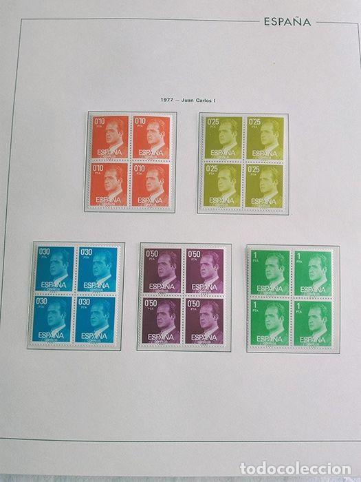 Sellos: España sellos en bloque de 4 de los años 1975 1976 1977 1978 con Hojas Edifil en negro HEBS70 - Foto 18 - 205826555