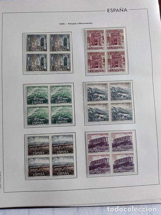 Sellos: España sellos en bloque de 4 de los años 1975 1976 1977 1978 con Hojas Edifil en negro HEBS70 - Foto 19 - 205826555