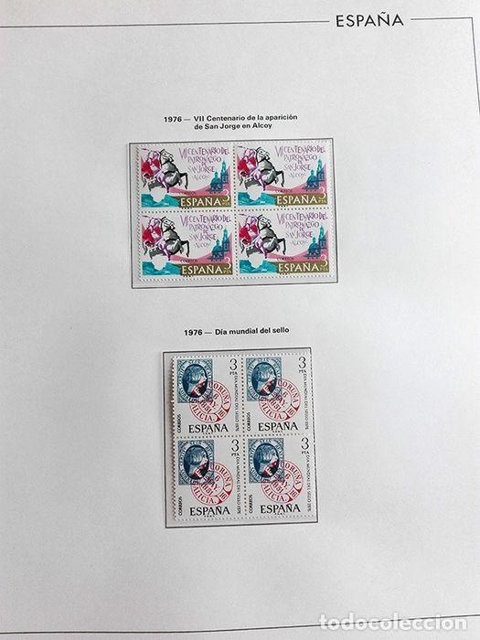 Sellos: España sellos en bloque de 4 de los años 1975 1976 1977 1978 con Hojas Edifil en negro HEBS70 - Foto 20 - 205826555