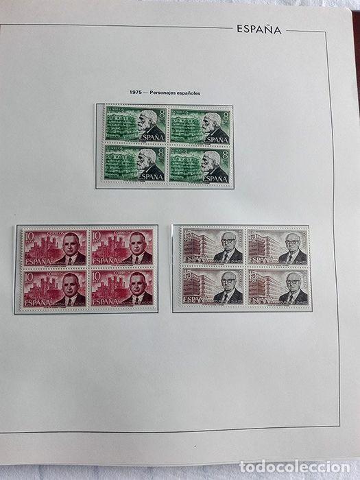 Sellos: España sellos en bloque de 4 de los años 1975 1976 1977 1978 con Hojas Edifil en negro HEBS70 - Foto 21 - 205826555