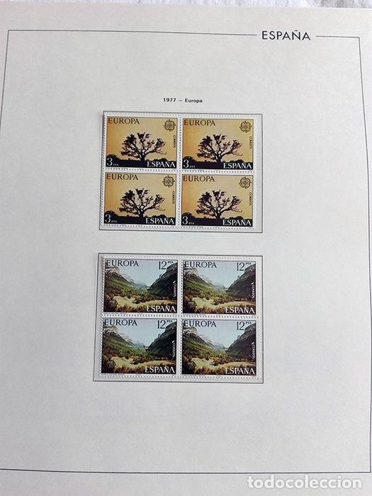 Sellos: España sellos en bloque de 4 de los años 1975 1976 1977 1978 con Hojas Edifil en negro HEBS70 - Foto 23 - 205826555