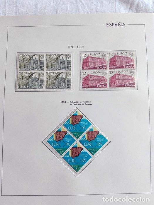 Sellos: España sellos en bloque de 4 de los años 1975 1976 1977 1978 con Hojas Edifil en negro HEBS70 - Foto 25 - 205826555