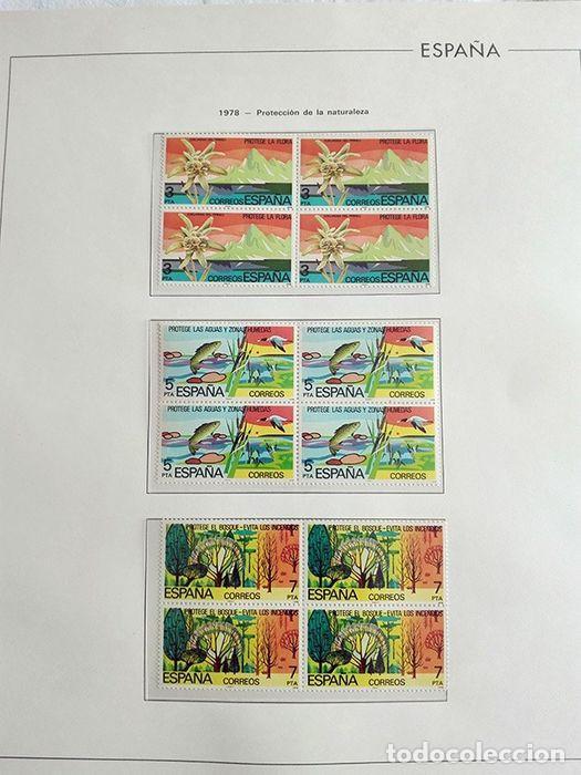Sellos: España sellos en bloque de 4 de los años 1975 1976 1977 1978 con Hojas Edifil en negro HEBS70 - Foto 28 - 205826555