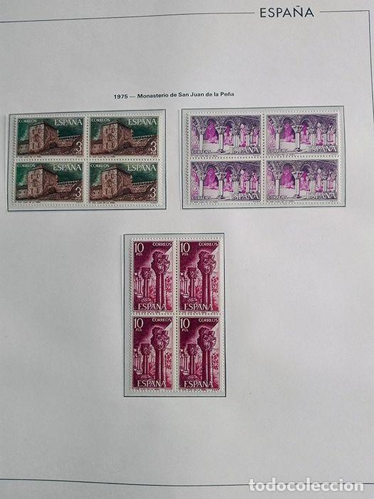 Sellos: España sellos en bloque de 4 de los años 1975 1976 1977 1978 con Hojas Edifil en negro HEBS70 - Foto 29 - 205826555