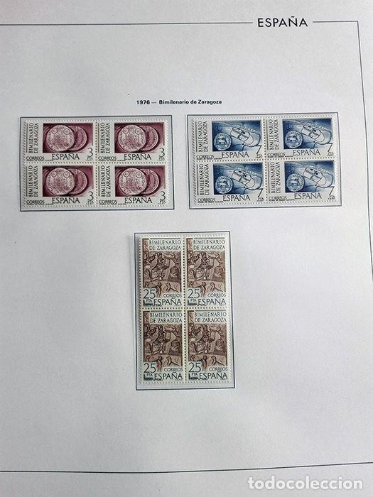 Sellos: España sellos en bloque de 4 de los años 1975 1976 1977 1978 con Hojas Edifil en negro HEBS70 - Foto 30 - 205826555