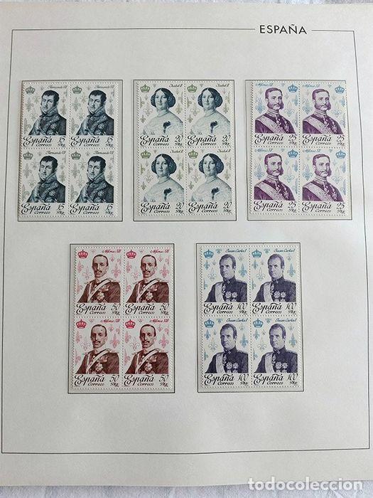 Sellos: España sellos en bloque de 4 de los años 1975 1976 1977 1978 con Hojas Edifil en negro HEBS70 - Foto 31 - 205826555