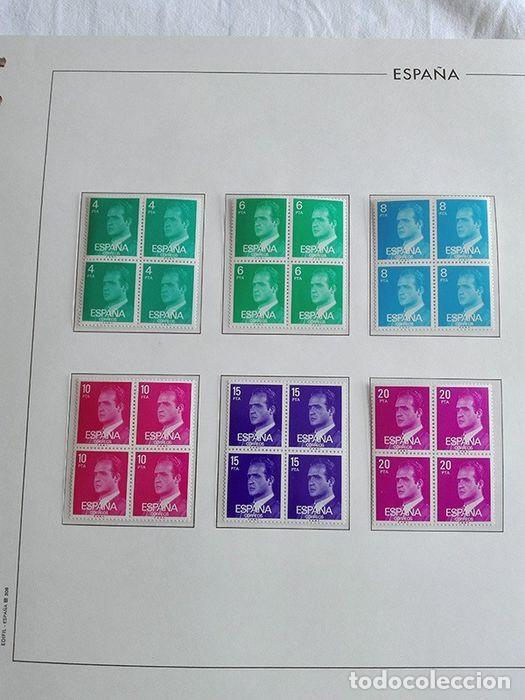 Sellos: España sellos en bloque de 4 de los años 1975 1976 1977 1978 con Hojas Edifil en negro HEBS70 - Foto 32 - 205826555