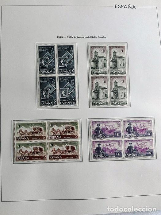 Sellos: España sellos en bloque de 4 de los años 1975 1976 1977 1978 con Hojas Edifil en negro HEBS70 - Foto 33 - 205826555