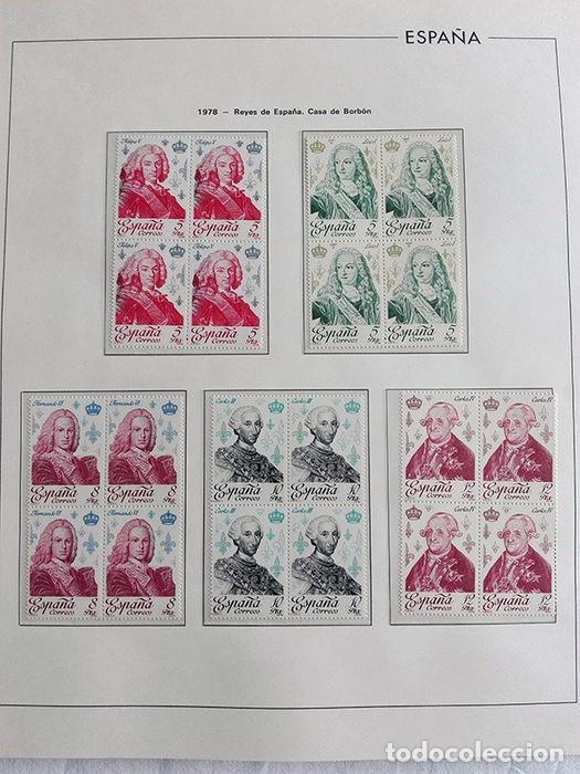 Sellos: España sellos en bloque de 4 de los años 1975 1976 1977 1978 con Hojas Edifil en negro HEBS70 - Foto 34 - 205826555