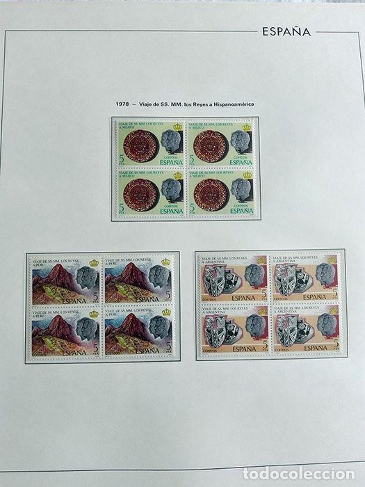 Sellos: España sellos en bloque de 4 de los años 1975 1976 1977 1978 con Hojas Edifil en negro HEBS70 - Foto 35 - 205826555