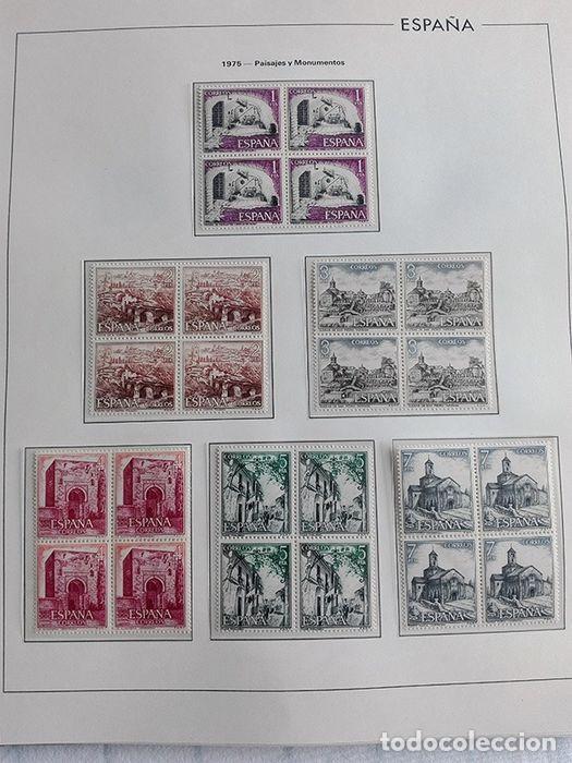 Sellos: España sellos en bloque de 4 de los años 1975 1976 1977 1978 con Hojas Edifil en negro HEBS70 - Foto 36 - 205826555