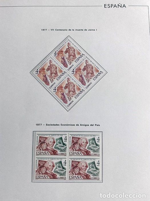 Sellos: España sellos en bloque de 4 de los años 1975 1976 1977 1978 con Hojas Edifil en negro HEBS70 - Foto 37 - 205826555
