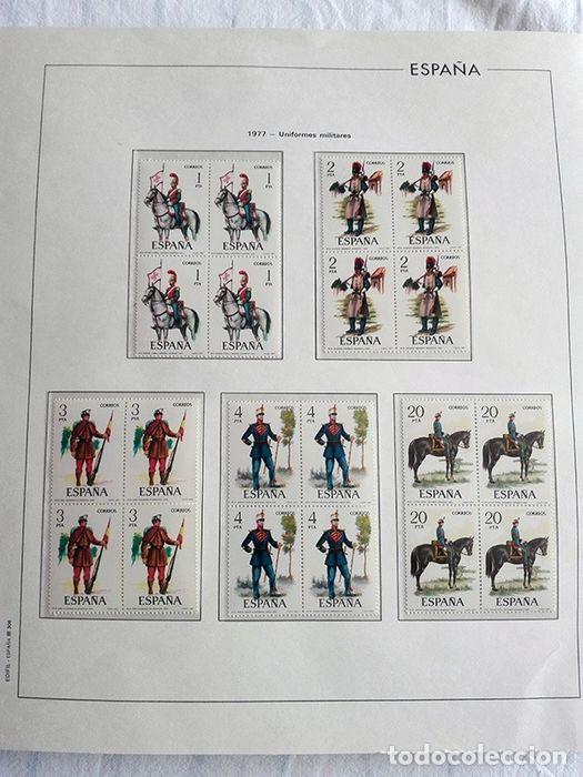 Sellos: España sellos en bloque de 4 de los años 1975 1976 1977 1978 con Hojas Edifil en negro HEBS70 - Foto 38 - 205826555