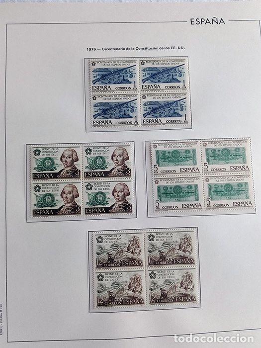 Sellos: España sellos en bloque de 4 de los años 1975 1976 1977 1978 con Hojas Edifil en negro HEBS70 - Foto 41 - 205826555