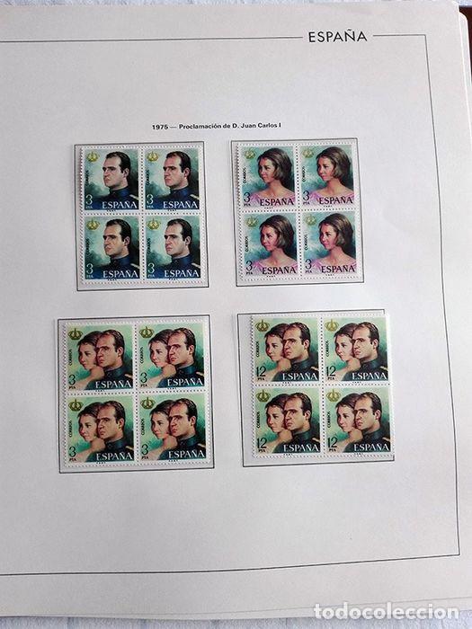 Sellos: España sellos en bloque de 4 de los años 1975 1976 1977 1978 con Hojas Edifil en negro HEBS70 - Foto 42 - 205826555