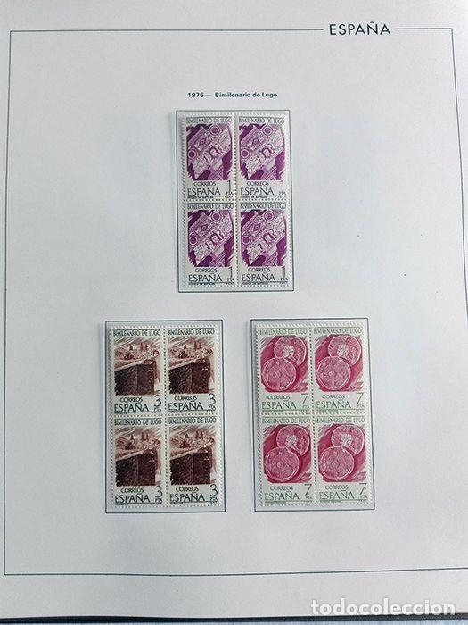 Sellos: España sellos en bloque de 4 de los años 1975 1976 1977 1978 con Hojas Edifil en negro HEBS70 - Foto 43 - 205826555