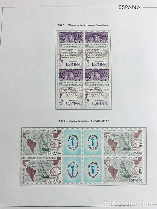 Sellos: España sellos en bloque de 4 de los años 1975 1976 1977 1978 con Hojas Edifil en negro HEBS70 - Foto 44 - 205826555