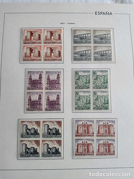 Sellos: España sellos en bloque de 4 de los años 1975 1976 1977 1978 con Hojas Edifil en negro HEBS70 - Foto 46 - 205826555