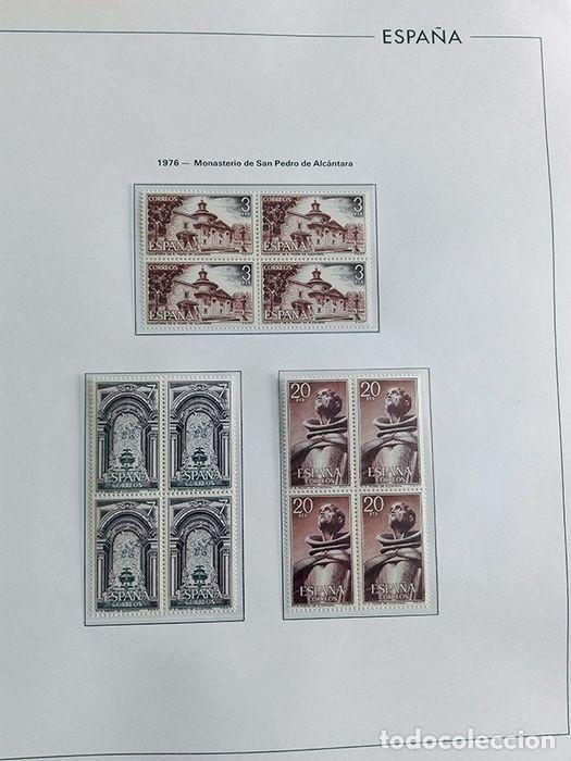 Sellos: España sellos en bloque de 4 de los años 1975 1976 1977 1978 con Hojas Edifil en negro HEBS70 - Foto 47 - 205826555