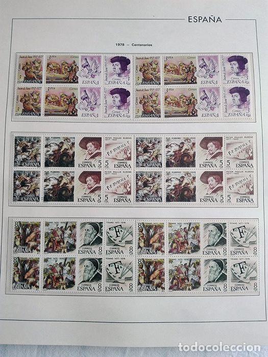Sellos: España sellos en bloque de 4 de los años 1975 1976 1977 1978 con Hojas Edifil en negro HEBS70 - Foto 48 - 205826555