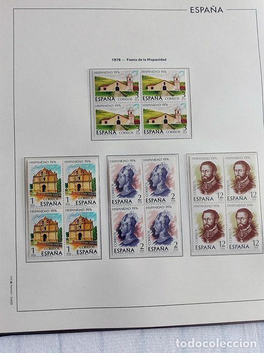 Sellos: España sellos en bloque de 4 de los años 1975 1976 1977 1978 con Hojas Edifil en negro HEBS70 - Foto 49 - 205826555