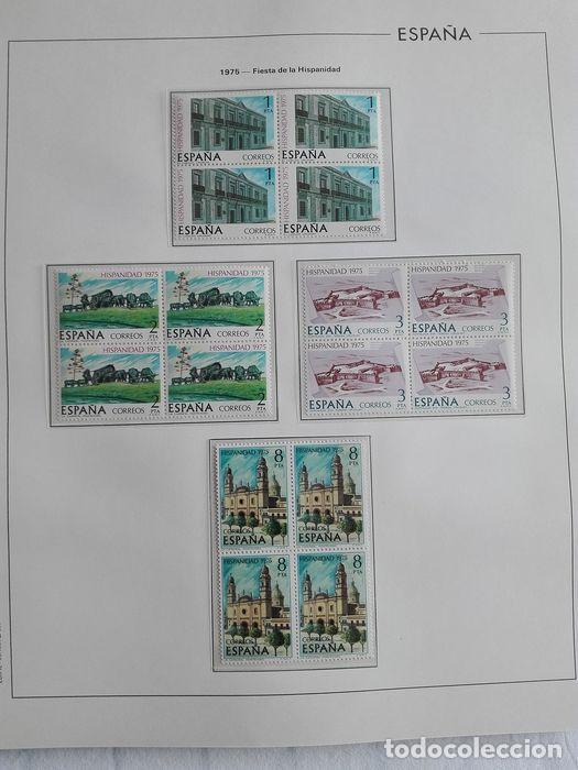Sellos: España sellos en bloque de 4 de los años 1975 1976 1977 1978 con Hojas Edifil en negro HEBS70 - Foto 50 - 205826555