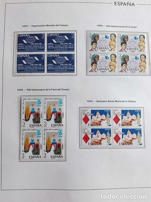 Sellos: España sellos en bloque de 4 de los años 1975 1976 1977 1978 con Hojas Edifil en negro HEBS70 - Foto 51 - 205826555