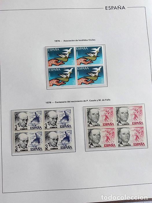 Sellos: España sellos en bloque de 4 de los años 1975 1976 1977 1978 con Hojas Edifil en negro HEBS70 - Foto 52 - 205826555