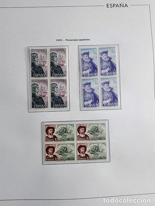 Sellos: España sellos en bloque de 4 de los años 1975 1976 1977 1978 con Hojas Edifil en negro HEBS70 - Foto 53 - 205826555