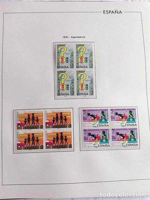 Sellos: España sellos en bloque de 4 de los años 1975 1976 1977 1978 con Hojas Edifil en negro HEBS70 - Foto 54 - 205826555