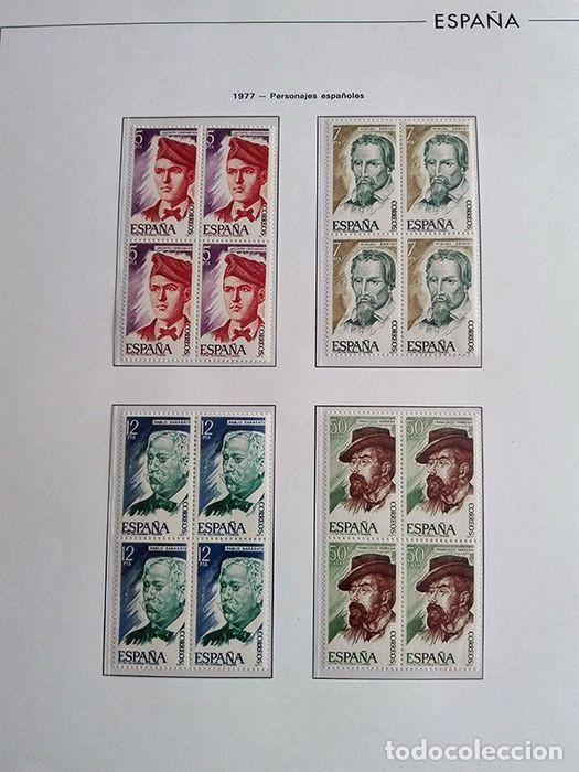 Sellos: España sellos en bloque de 4 de los años 1975 1976 1977 1978 con Hojas Edifil en negro HEBS70 - Foto 55 - 205826555