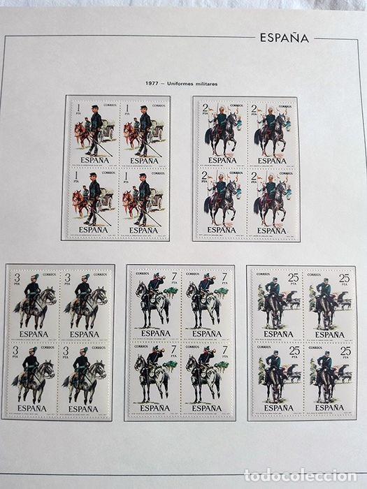 Sellos: España sellos en bloque de 4 de los años 1975 1976 1977 1978 con Hojas Edifil en negro HEBS70 - Foto 56 - 205826555