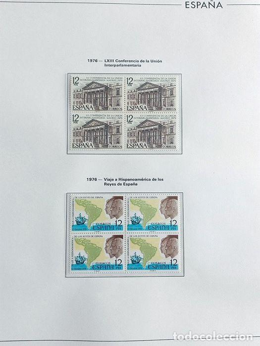Sellos: España sellos en bloque de 4 de los años 1975 1976 1977 1978 con Hojas Edifil en negro HEBS70 - Foto 57 - 205826555