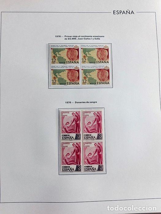 Sellos: España sellos en bloque de 4 de los años 1975 1976 1977 1978 con Hojas Edifil en negro HEBS70 - Foto 59 - 205826555