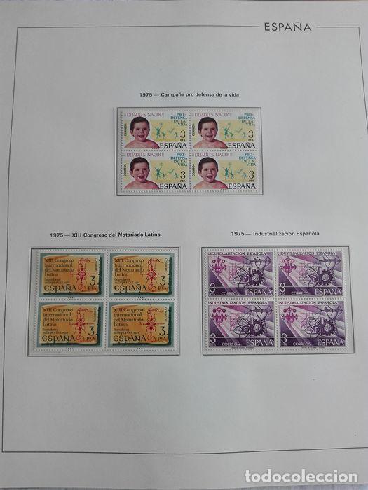 Sellos: España sellos en bloque de 4 de los años 1975 1976 1977 1978 con Hojas Edifil en negro HEBS70 - Foto 60 - 205826555