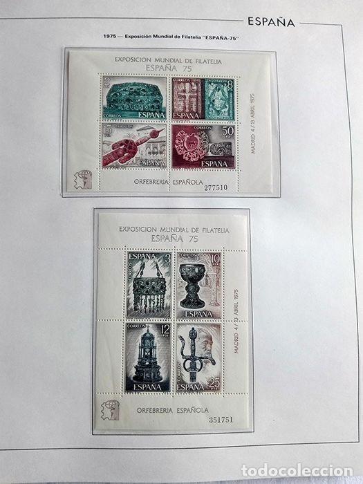 Sellos: España sellos en bloque de 4 de los años 1975 1976 1977 1978 con Hojas Edifil en negro HEBS70 - Foto 61 - 205826555