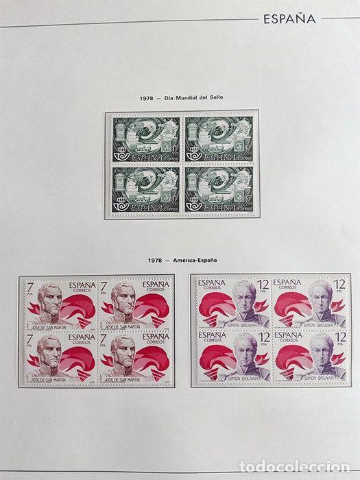 Sellos: España sellos en bloque de 4 de los años 1975 1976 1977 1978 con Hojas Edifil en negro HEBS70 - Foto 62 - 205826555